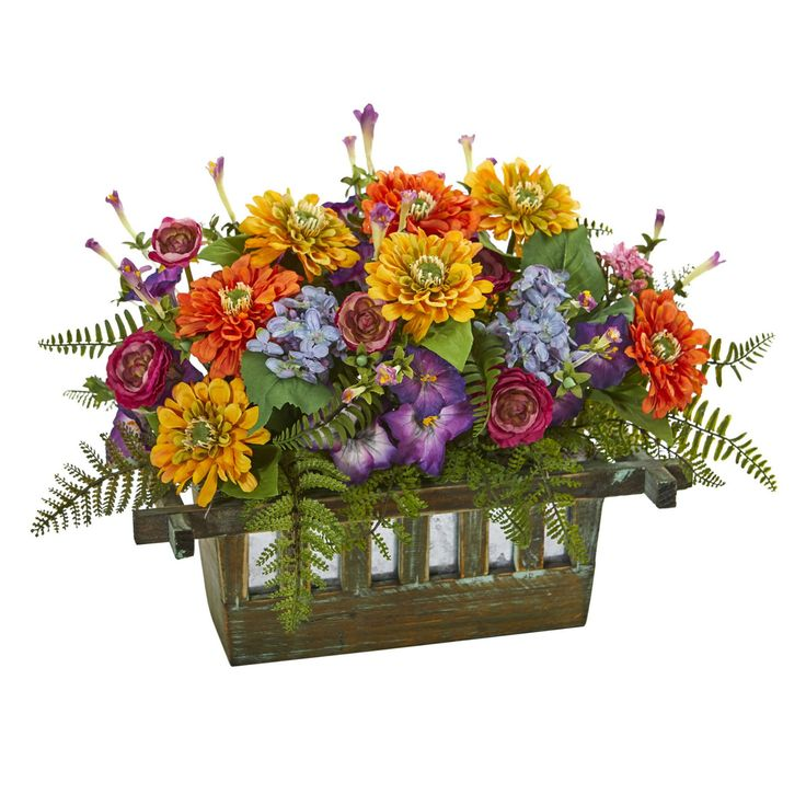 Nearly Natural Mixed Floral Artificial Arrangement In