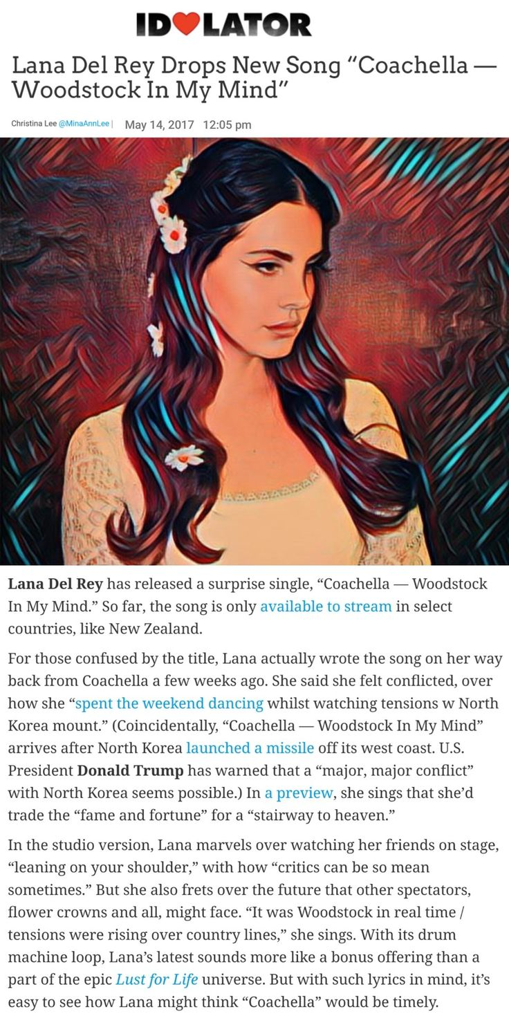 Lana Del Rey's new song will be available at midnight tonite for the rest of the world! #LDR #news