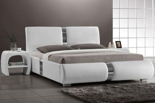 Lit design Blanc Musty 160 cm