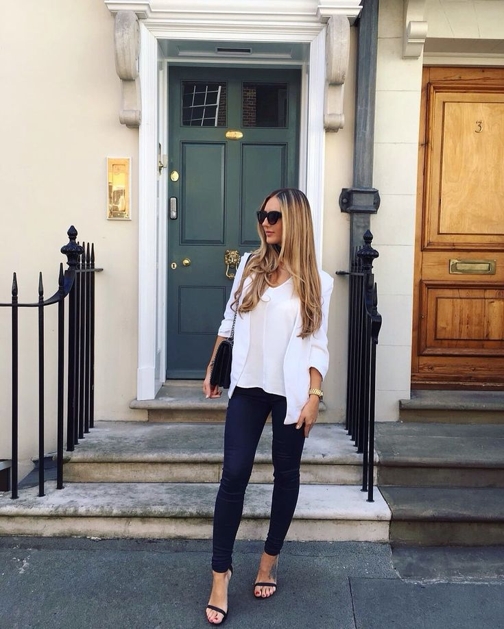 London today! Blazer - Zara Top - Reiss Jeans - Mango Heels - New look Sunglasses - Asos Instagram - Gabriellegrace9