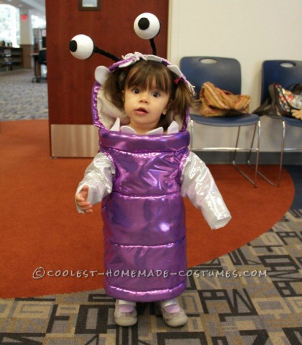 Homemade Boo From Monsters Inc Costume So Cute Cute Halloween Costumes Baby Halloween