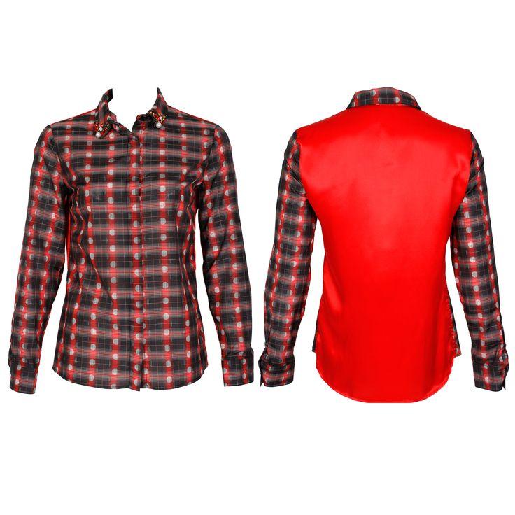 #whoswho #greenbird #marinamall #abudhabi #abudhabifashion #abudhabistyle #dubai #dubaifashion #dubaistyle #fashionista #womenswear #eveningwear #casualwear #fall2013 #winter2014 #blouse #shirt #collaredshirt #plaidshirt #plaid #redplaid #unisex