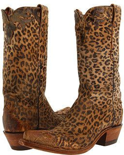 Leopard cowboy boots. Would love to see these in tones of black, grey and cream.