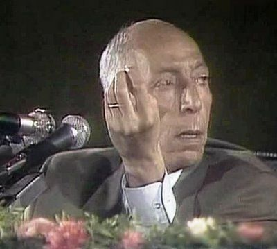 Mohamed Boudiaf, President of Algeria (who could have saved Algeria...), one seconde before he was murdered.