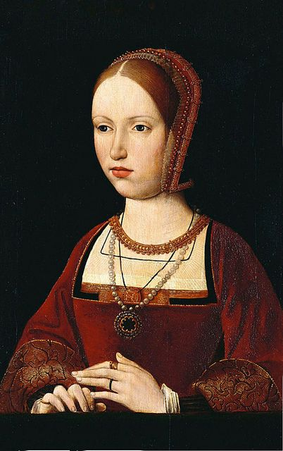 A 16th century portrait, possibly of Margaret Tudor, Queen of Scots; Margaret was the sister of Henry VIII of England.