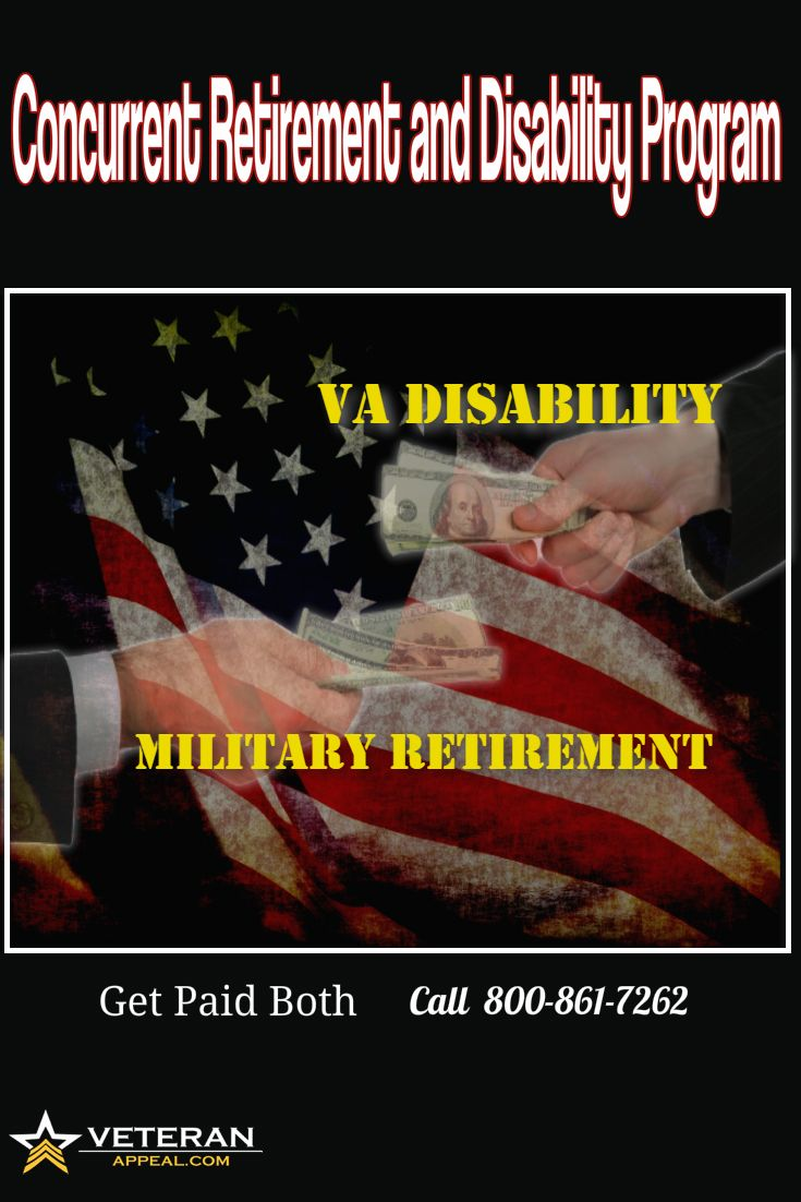 Get paid both your full military retirement pay and your