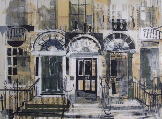 Three Doors, New Town Collage with Mixed Media and Wax, 74 x 55cm SOLD. Too late! Just got this beauty back from the framers on Wednesday and sold it at Open Studios on Saturday. Lovely to know it's...