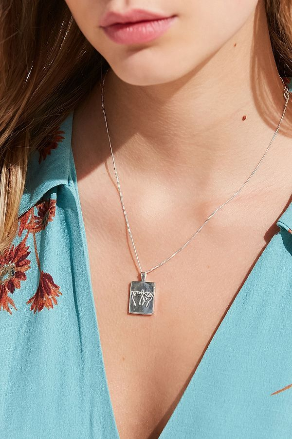 Slide View: 1: Wolf Circus Pinky Swear Necklace