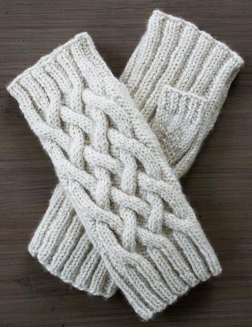 Når vanter er for klodsede, men kulden alligevel kan mærkes, hedder løsningen fingerløse vanter. Du får varme hænder og håndled og frie fingre. Her er opskriften på et par med snoninger/kabler. Læs mere ...