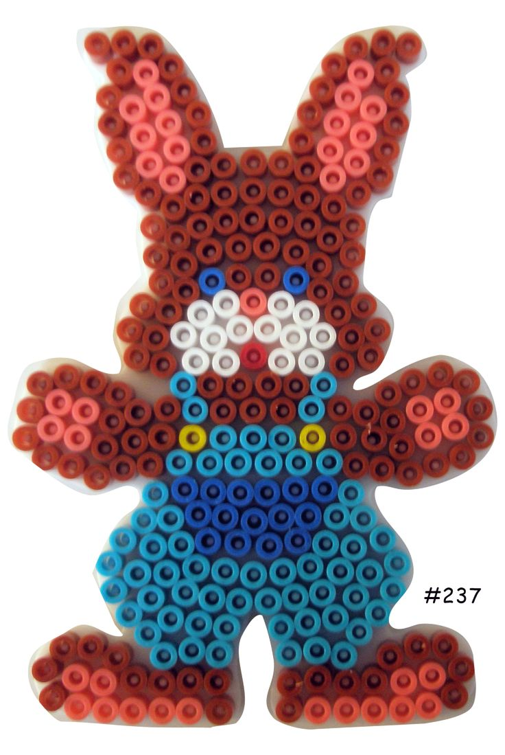 Easter bunny hama perler pattern - HAMA http://www.creactivites.com/234-plaques-perles-a-repasser-midi-hama