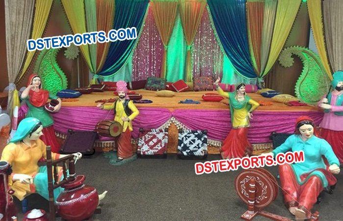 #Punjabi #Wedding #Stage #Decoration #Theem #Dstexports