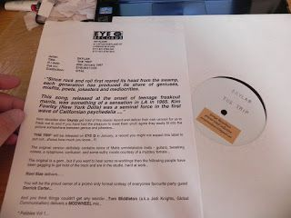 SKYLAB-THE TRIP (KIM FOWLEY COVER) PROMO WHITE LABEL WITH PRESS RELEASE