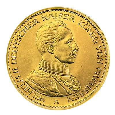 Goldmünze 20 Mark Kaiser Wilhelm II: Preussen J253