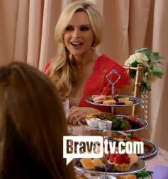 "Tamra Barney's Red Lace ""Secrets Revealed"" Dress DETAILS: http://www.bigblondehair.com/real-housewives/rhoc/tamra-barneys-secrets-revealed-red-lace-dress/"