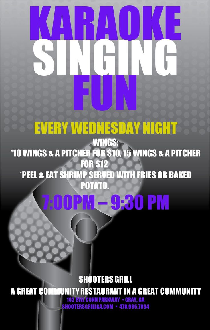 A Great night of Karaoke at Shooters Grill in Gray!