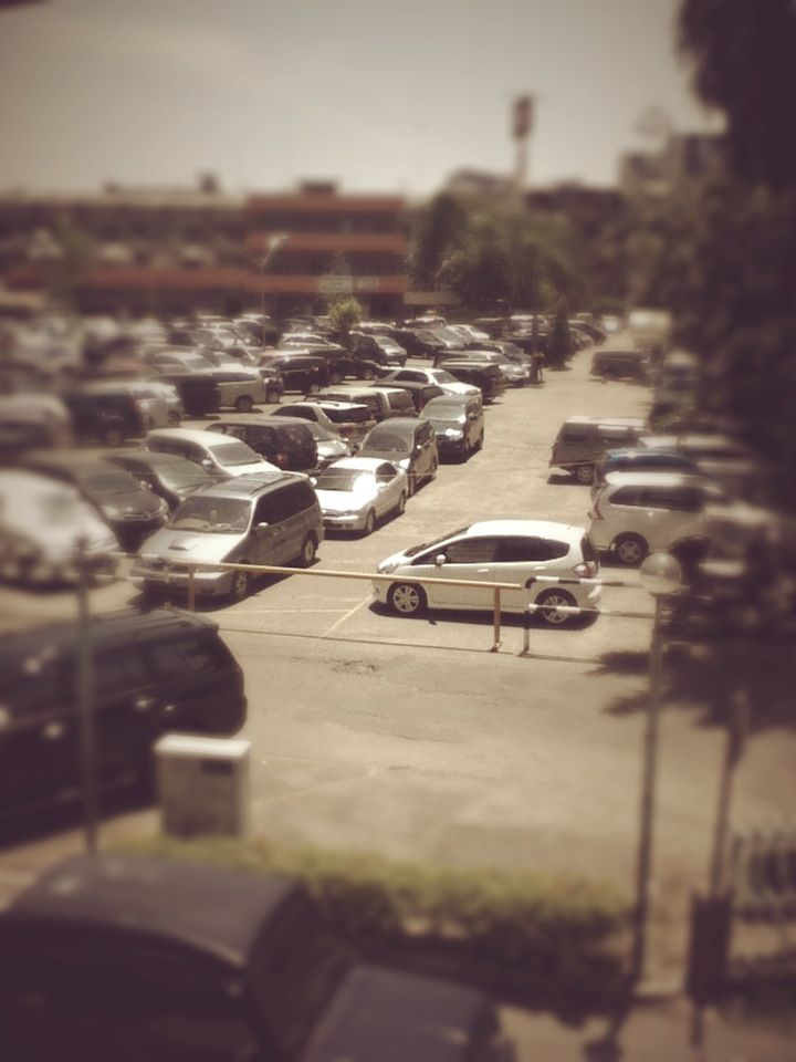 parking lot at Medan Plaza, Medan, Indonesia
