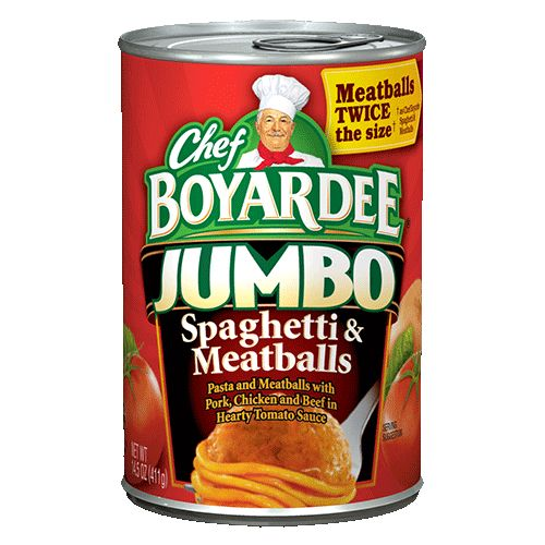 Chef Boyardee Canned & Microwave Spaghetti
