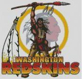 Cross Stitch Design of Washington Redskins Logo