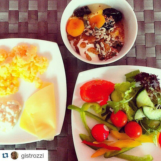 """""""The Greek way, #breakfast with salad. Delicious!"""" Happy guest gistrozzi at Instagram makes the perfect mix of a #morning treat at Radisson Blu Park Hotel Athens"""