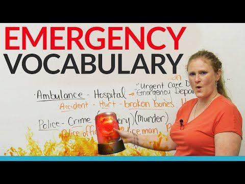 EMERGENCY Vocabulary in English · engVid
