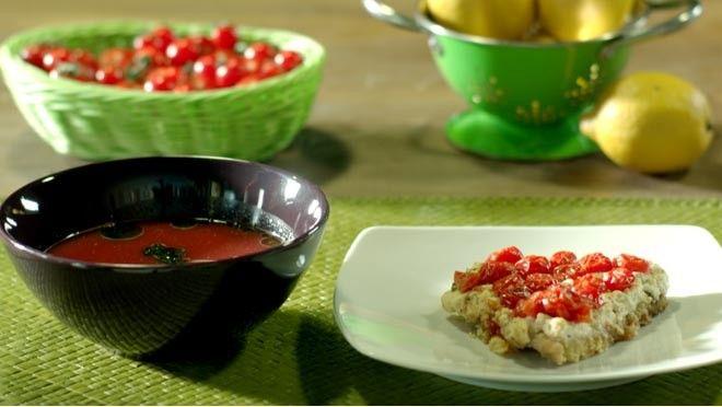 Watermeloen-muntsoep en fetaquiche