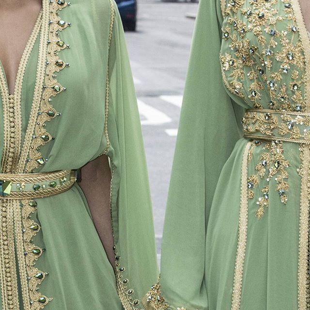 Caftan couleur vert