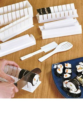 $13.95 - Ultimate Sushi Maker: A 5-In-1 Set That Is Easy-To-Use. Free Knife Included!