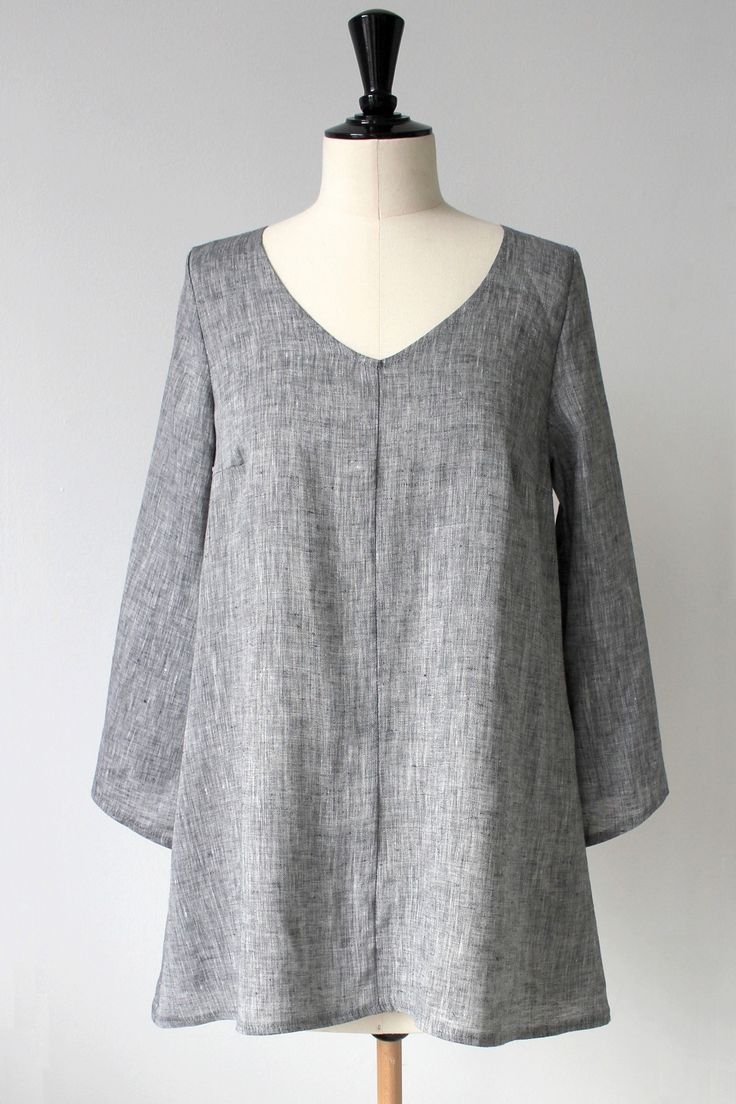 NO NAME Linen Tunic, DENIM GREY (149,-)