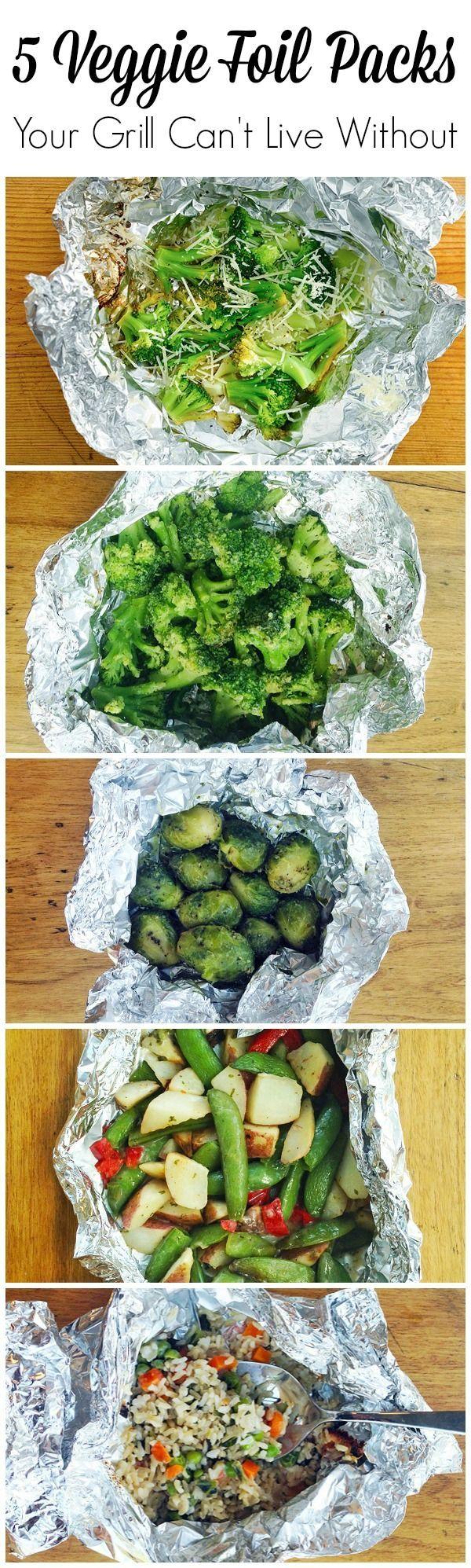 5 super yummy veggie foil packs for your grill make summer super easy!