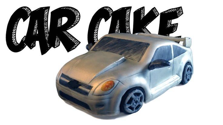 CAR CAKE TUTORIAL! How to make a realistic 3D Chevrolet Cobalt SS silver...