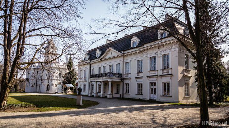 Krasinscy palace and the chateau in Radziejowice, Poland