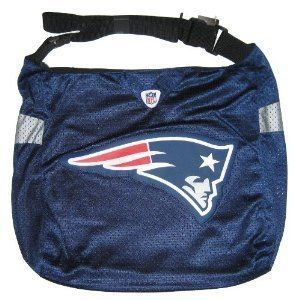 "New England Patriots Tom Brady Jersey Tote Bag by NFL. $17.50. Two Pockets on Inside. Officially Licensed. Adjustable Strap so you can wear over the shoulder or cross body. Zipper Closure. Approximately 14""x13""x4"" in Size. This Jersey Tote Bag is made of authentic jersey material.  It has an adjustable strap so it can be worn cross body or over the shoulder.  It is screen printed on one side and has a large Patriots logo on the front  A must have for the Tom Brady fan!!  ..."