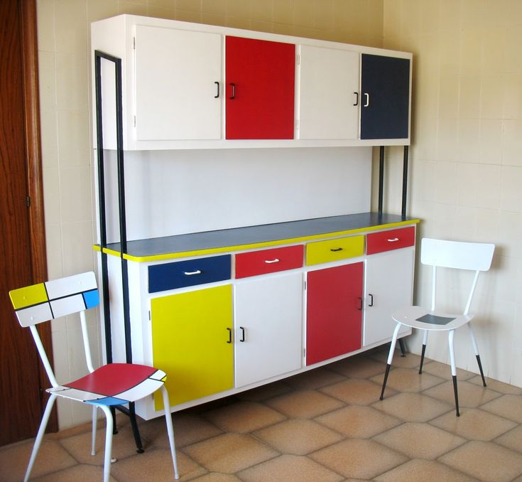 Modrian_recycled_furniture_6  Mondrian ArtRecycled FurnitureEntrywayKitchen  ...