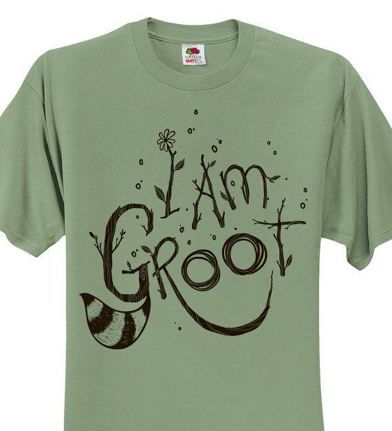 Guardians of The Galaxy T-shirt - Sagestone I am Groot t-shirt - Hand Screen Printed I am Groot shirt