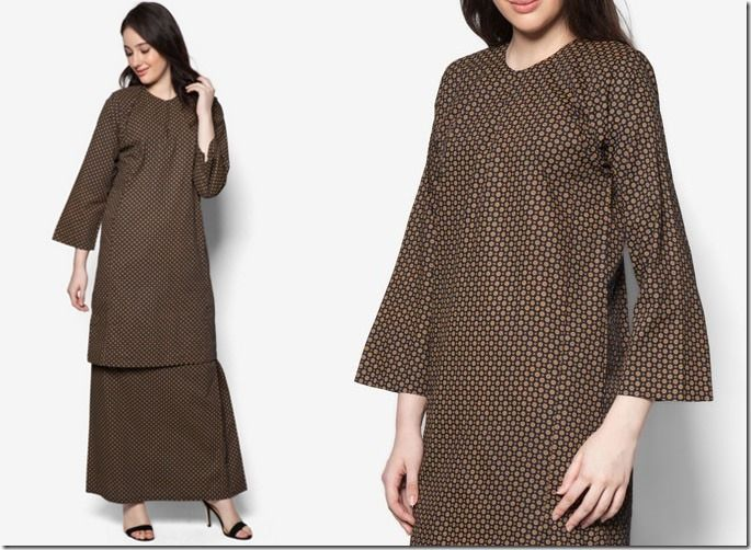 Minimalist Baju Kurung For Raya 2016 / dotted-brown-baju-kurung