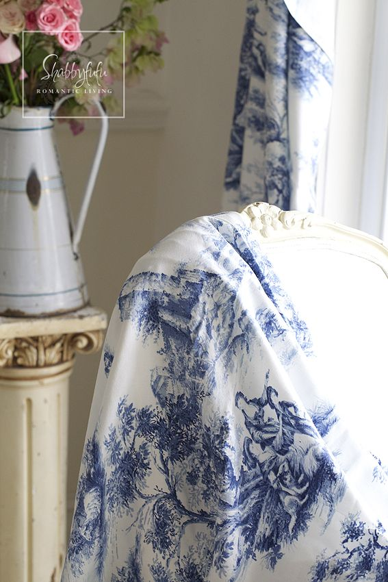 A Touch Of Toile In The Dining Room