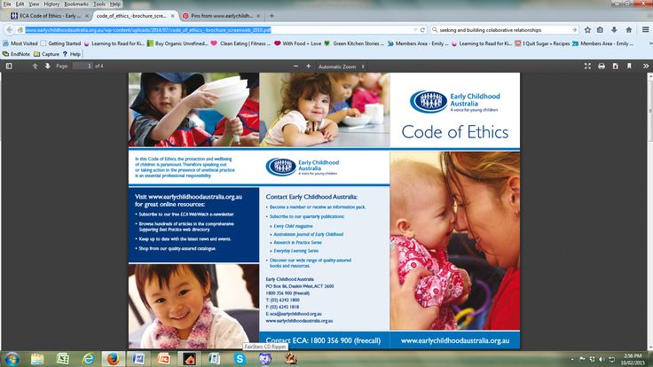 This pin details the Early Childhood Australia 'Code of Ethics' which relates to the conduct of early childhood educators in Australia. This is supported by 'The Early Years Learning Framework for Australia,' (DEEWR, 2009) evidenced through the complex and diverse repertoire of expectations for professional practice reflected within the document. https://docs.education.gov.au/system/files/doc/other/belonging_being_and_becoming_the_early_years_learning_framework_for_australia.pdf