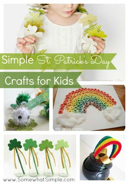 St. Patrick's Day Crafts for Kids www.SomewhatSimple.com