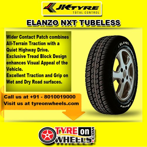 Buy JK Car Tyres Online of Elanzo NXT Tubeless Tyres at Guaranteed Low Prices and also get Mobile Tyres Fitting Services at your home now buy at http://www.tyreonwheels.com/tyres/JKTyres/ELANZO-NXT/1769