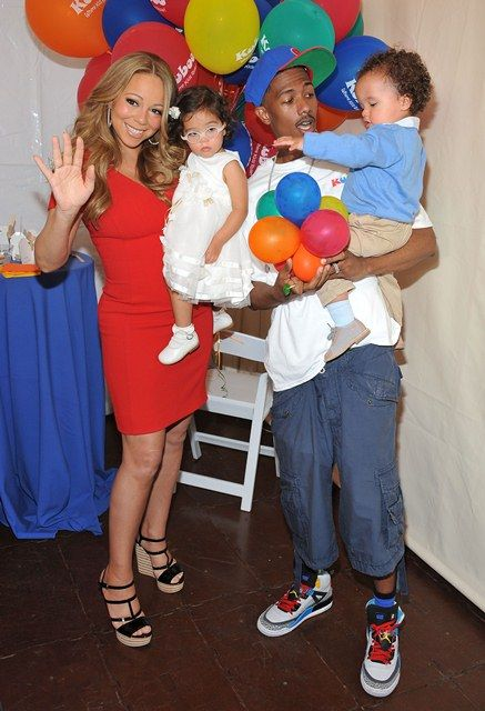 Mariah Carey, husband Nick Cannon, and their twins