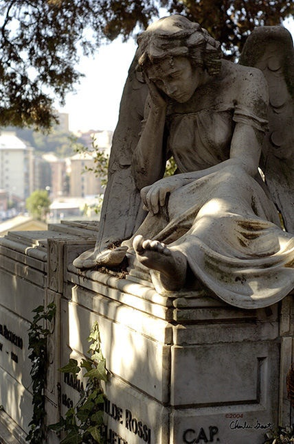 Angel. I love these. It's like the Angels are there to mourn, protect and guard them Maybe??