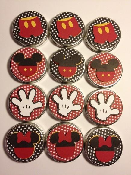 decoracao festa mickey : decoracao festa mickey:Latinhas tema Mickey