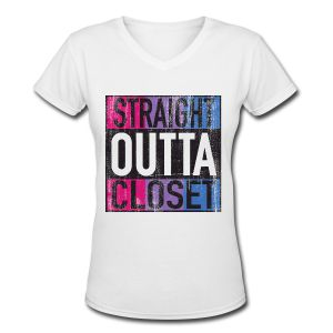 Straight Outta Closet Parody Bisexual LGBT Pride - t-shirts, tanks, and more