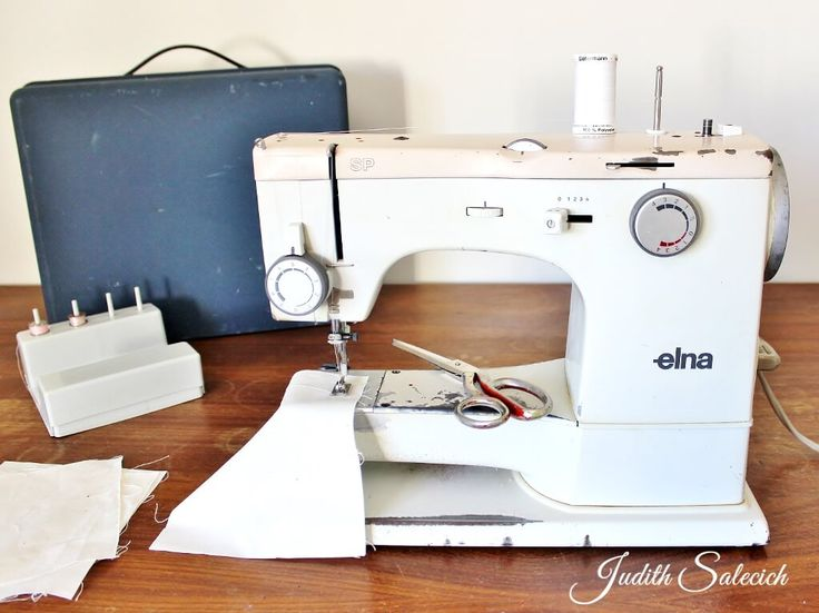 My Elna SP (Special) machine, an engagement gift in the 1970s