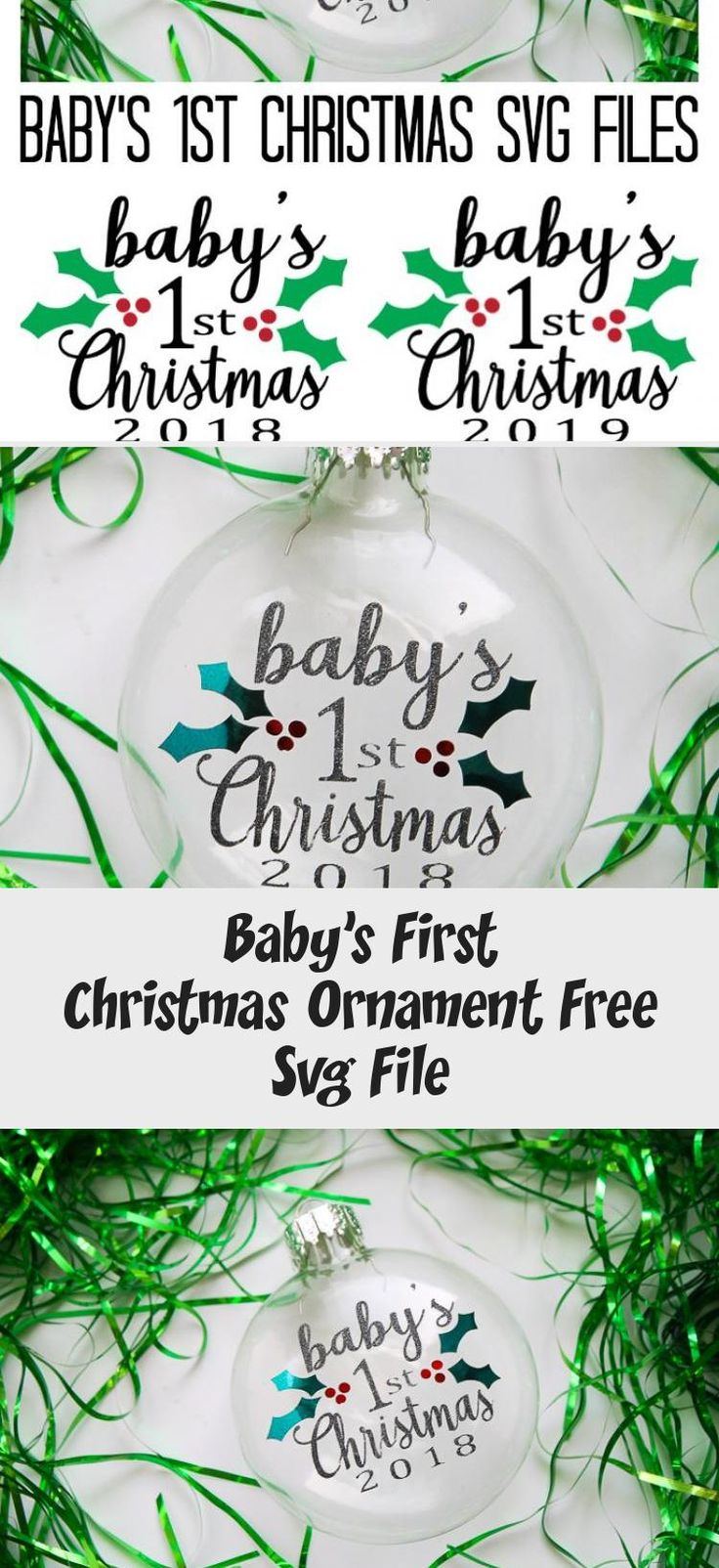 Baby's First Christmas Ornament Free Svg File İdeas in