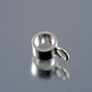 simple sterling silver charm carrier / bail