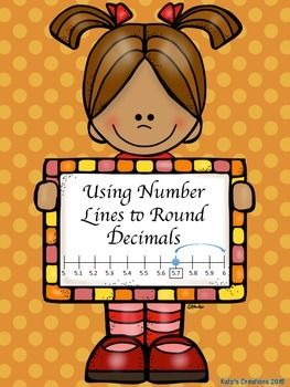 Rounding decimals is a difficult skill. This product shows students how to use number lines to round in a visual way. There are two problems where students are asked to round to the nearest tenth, hundredth, and ones place for the same decimal.Included:- One worksheet with two decimals to round in 3 ways each- A blank version to use your own decimals- Answer keyGreat to use as classwork, exit ticket, quick assessment, or pretest!