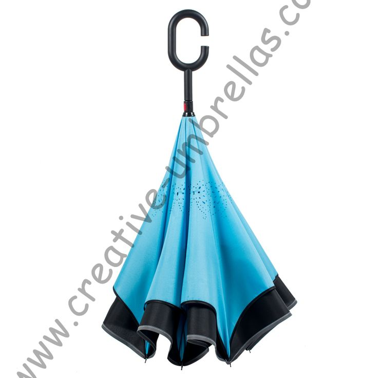 98cm 2-3persons C-Hook self-defense reflective neon Car Umbrella Windproof Reverse umbrella Double Layer Inverted stand parasol