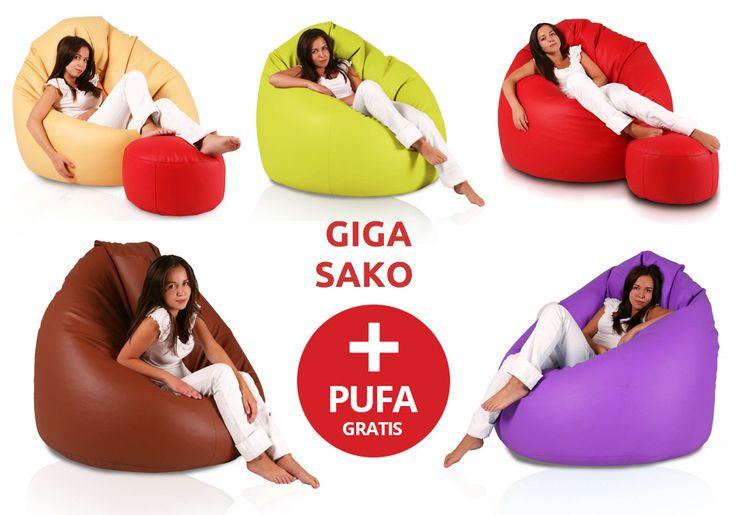 Pufa Fotel Giga Sako największy fotel + pufa mała pod nogi Gratis! 199,00 zł   #pufa #Gigasako #fotel #dużapufa #megasako #siedzisko #pufaxxxxxl #pufazadarmo #pufy #fotele