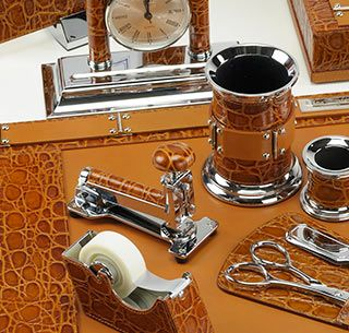 stylist mens desk accessories. Classic Crocodile Leather Desk Accessory Set Amazing for any office 23 best Luxury Accessories images on Pinterest  Home